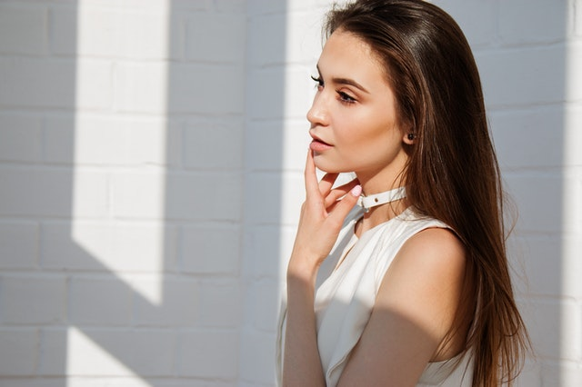 side profile of woman